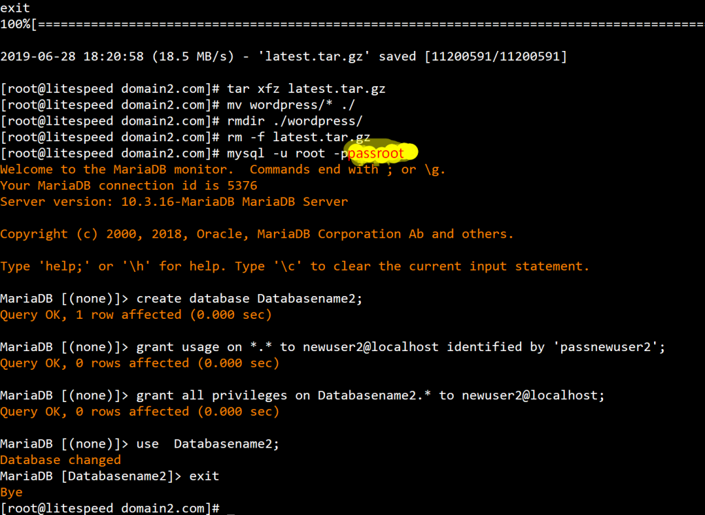 Lệnh tải Source Wordpress tự động trên Linux 2