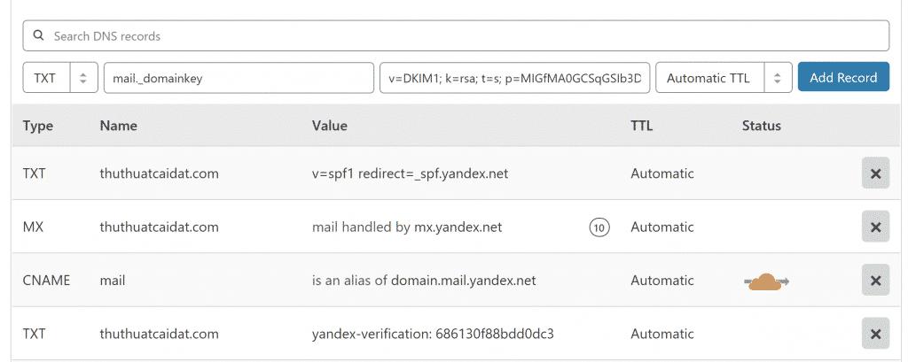 Đăng ký Yandex để tạo Email Tên Miền Miễn Phí 7