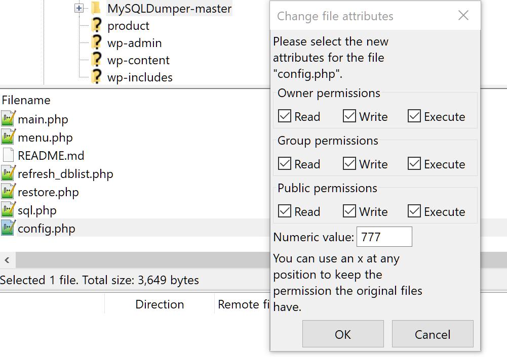 Thiết lập MySQLDumper 5