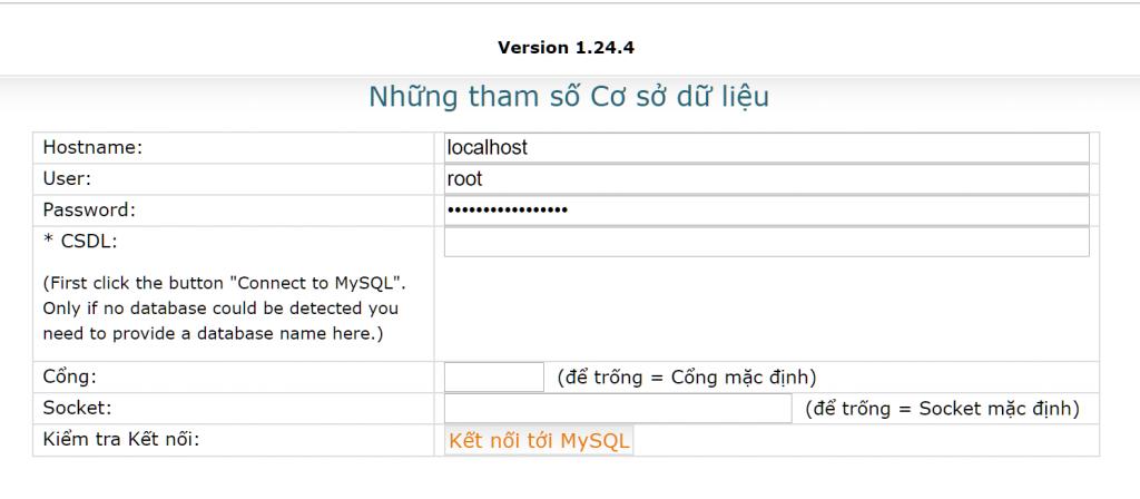 Thiết lập MySQLDumper 6